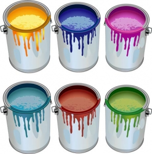Paint bottles vector