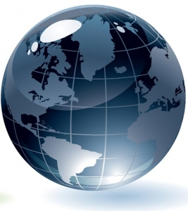 Globe vector template