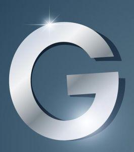 Glossy G letter vector