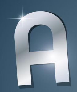Glossy A letter vector