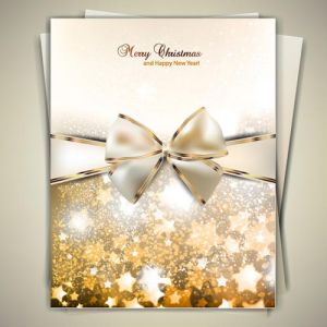 Golden ribbons for banners and cards vectors