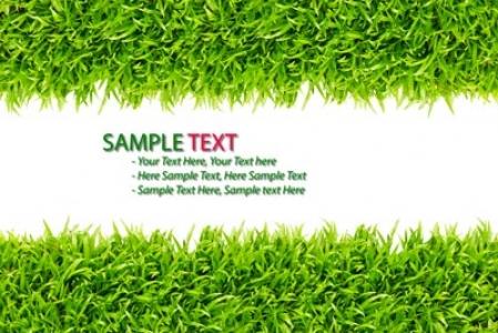 Grass frame template