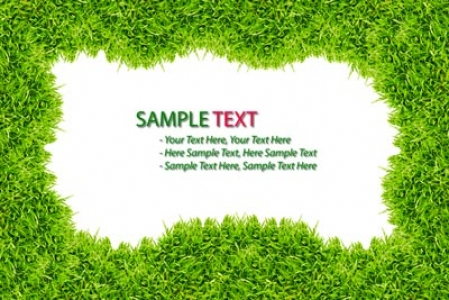 Grass frame template