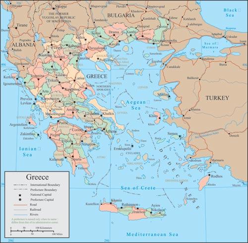 Greece vector maps