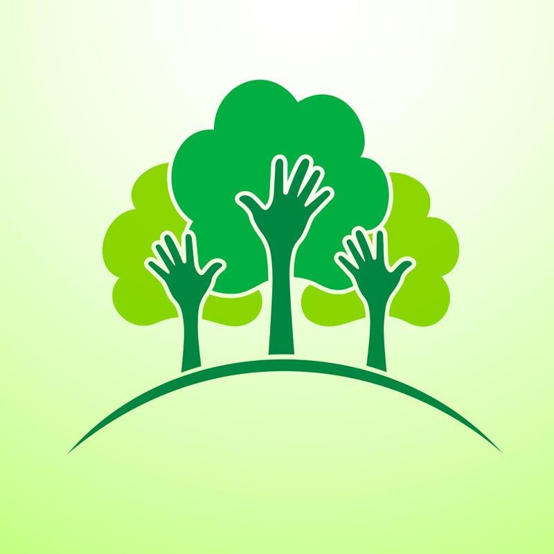 Green Concept Logo Vectors