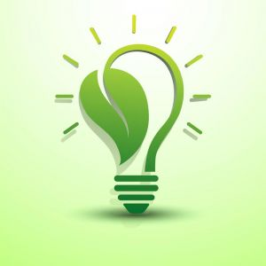Green idea concept logo vector
