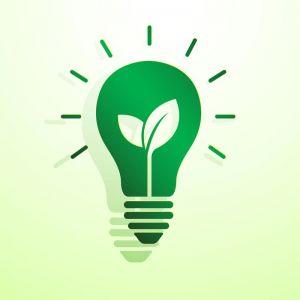 Green idea concept logo vector