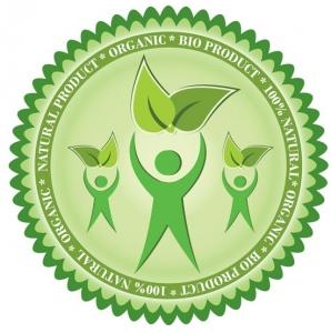 Green eco label vector