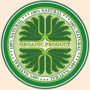 Green eco label vector design