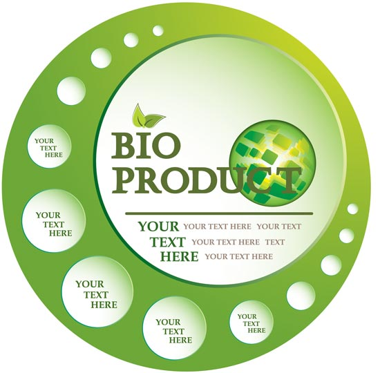 Green eco labels vectors