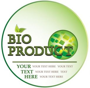 Bio product label template