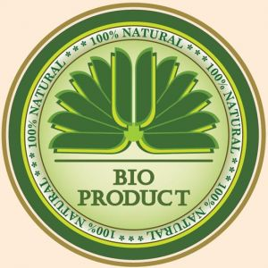 Green eco label vector template