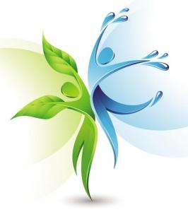 Green ecology concept vector