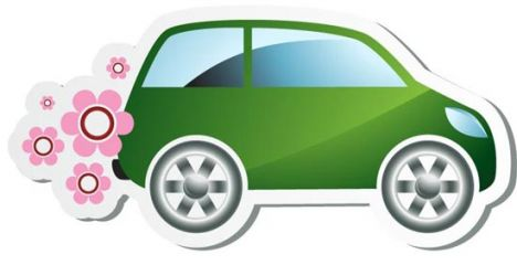 Green car vector design