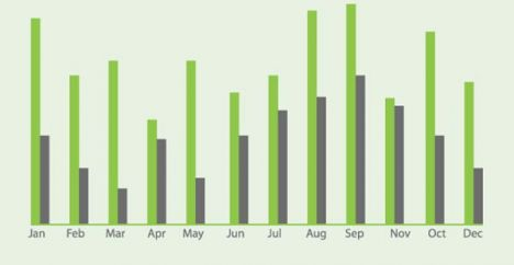 green-infographics-charts-vector5