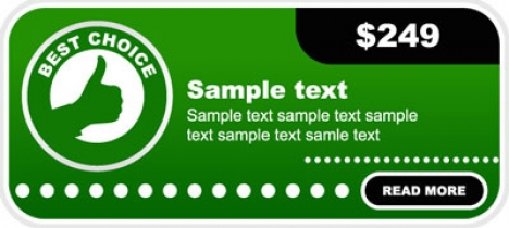 Green vector label