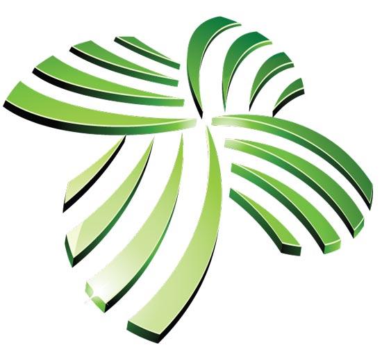 Green vector logo templates for Template logo