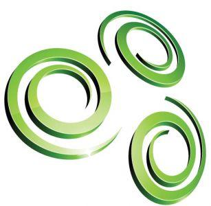 Green vector logo model