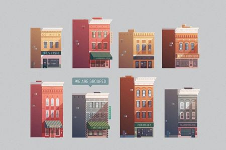 grouped-downtown-buildings-vector-illustration2