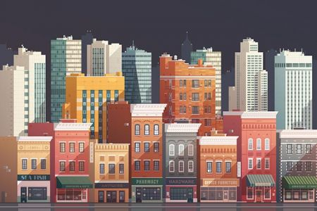 grouped-downtown-buildings-vector-illustration4