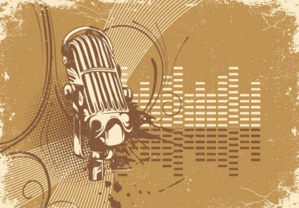 Grunge microphone templates