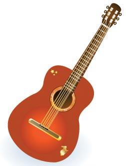 instruments guitar vectors