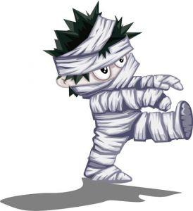 Halloween evil characters vectors