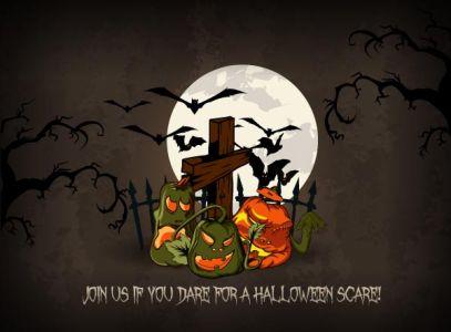 Hand-painted Halloween vector