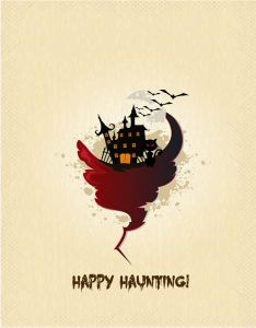 Hand-painted Halloween vector