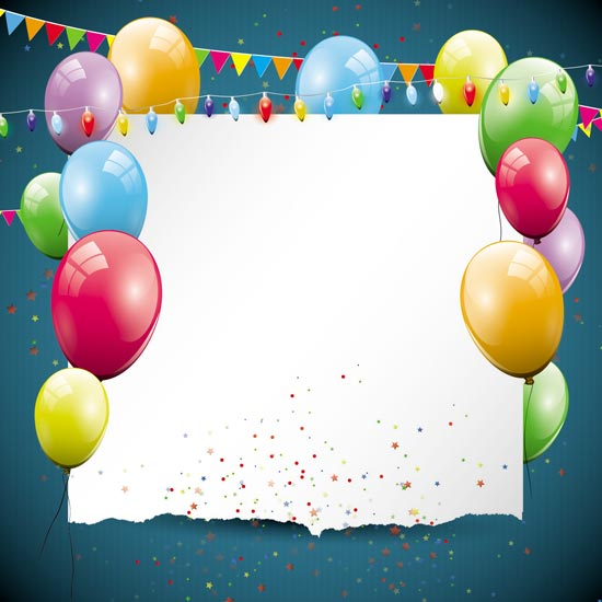 happy birthday balloons vector. Black Bedroom Furniture Sets. Home Design Ideas