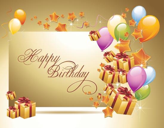 Happy Birthday vector postcards