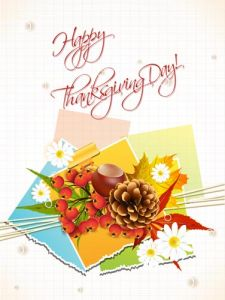 Happy thanksgiving vector cards