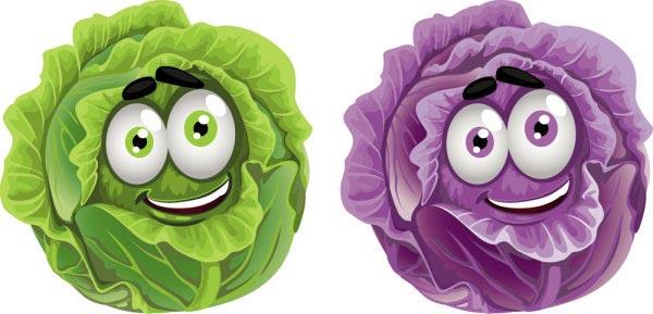 Happy vegetables cartoon vectors Happy Vegetables