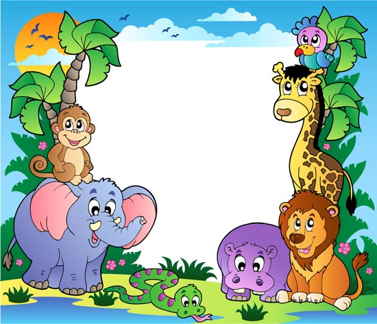 Happy Zoo Animals Vectors