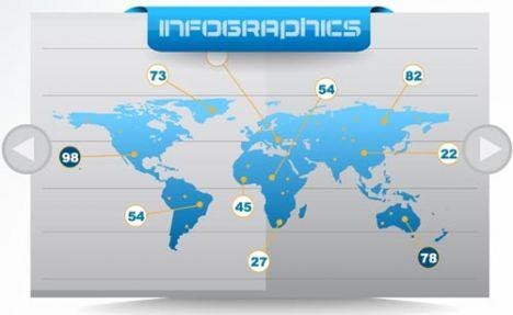 World map slider template
