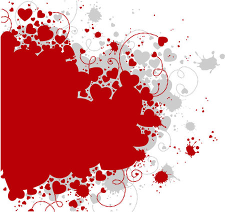 Heart shapes vector collection