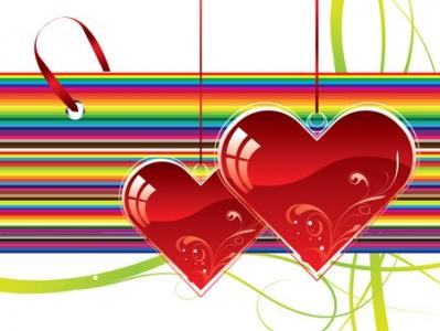 Heart shapes vector