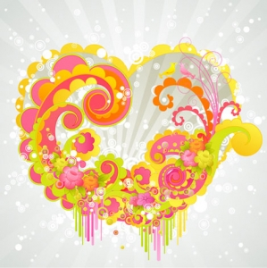 Hearts vector template