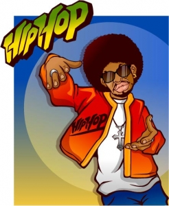 Hip hop vector characters design expression
