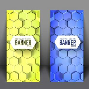 Modern design. Business banner set