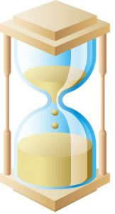 Brown hourglass vector design