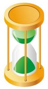 Green hourglass vector design