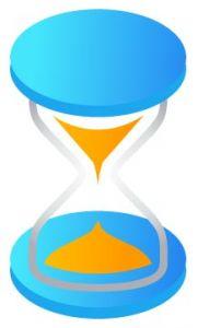 Blue hourglass vector design