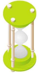 Light green hourglass vector design