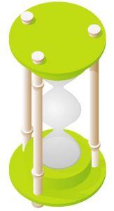 Light green hourglass vector design