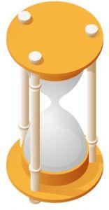 Dark yellow  hourglass vector design