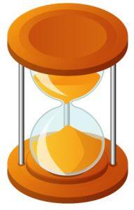 Brown hourglass vector design