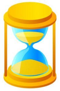 Yellow hourglass vector design