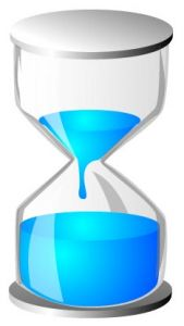 Light blue hourglass vector design