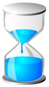 Light blue hourglass vector design